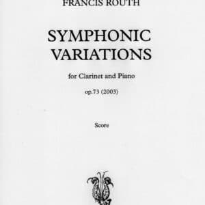Symphonic variations for clarinet score and part -0