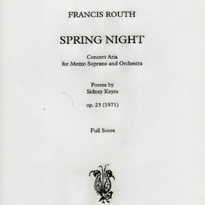 Spring Night Op 23 Score and parts download-0